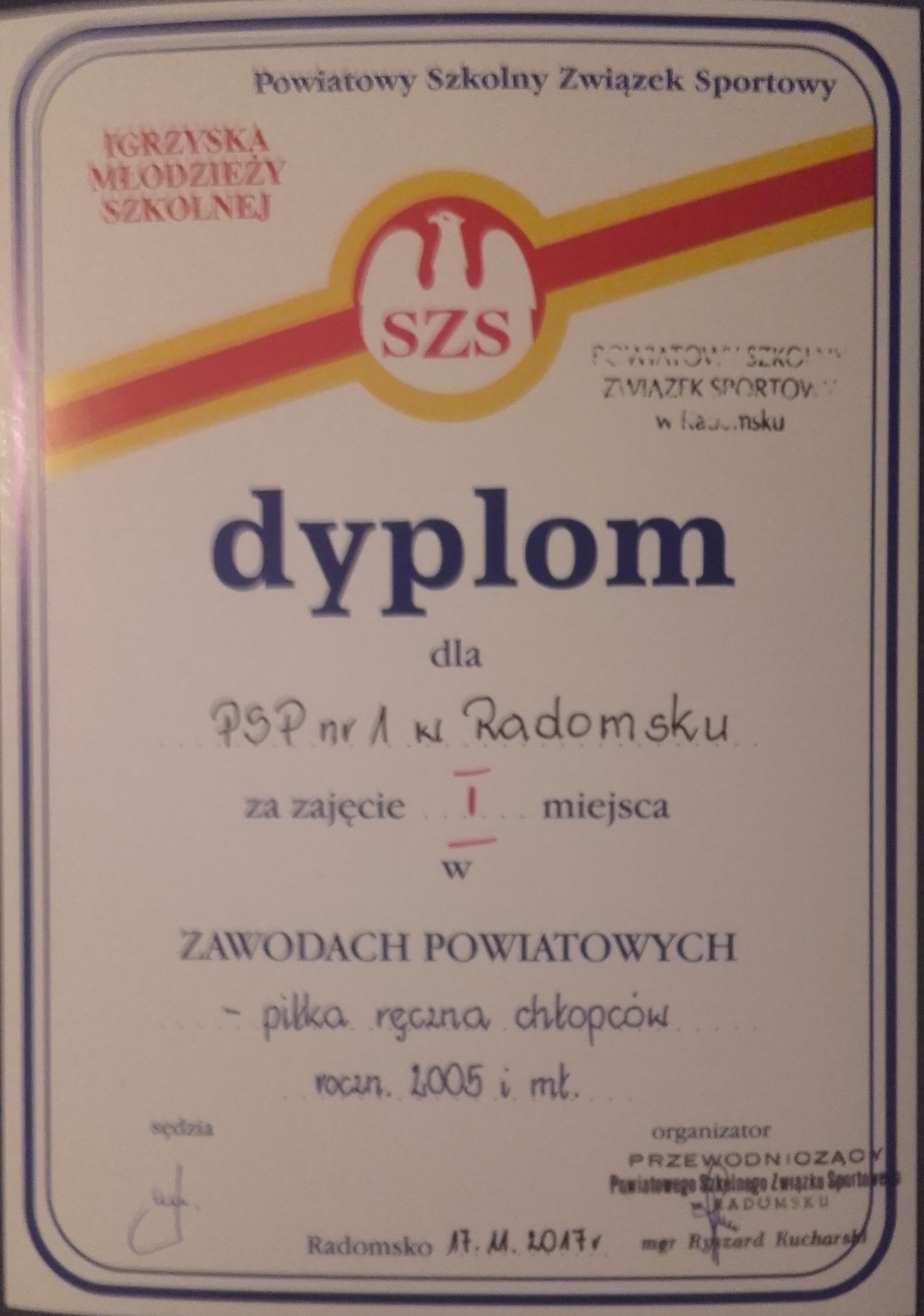 Mistrzostwa Powiatu w Piłce Ręcznej Szkół Podstawowych