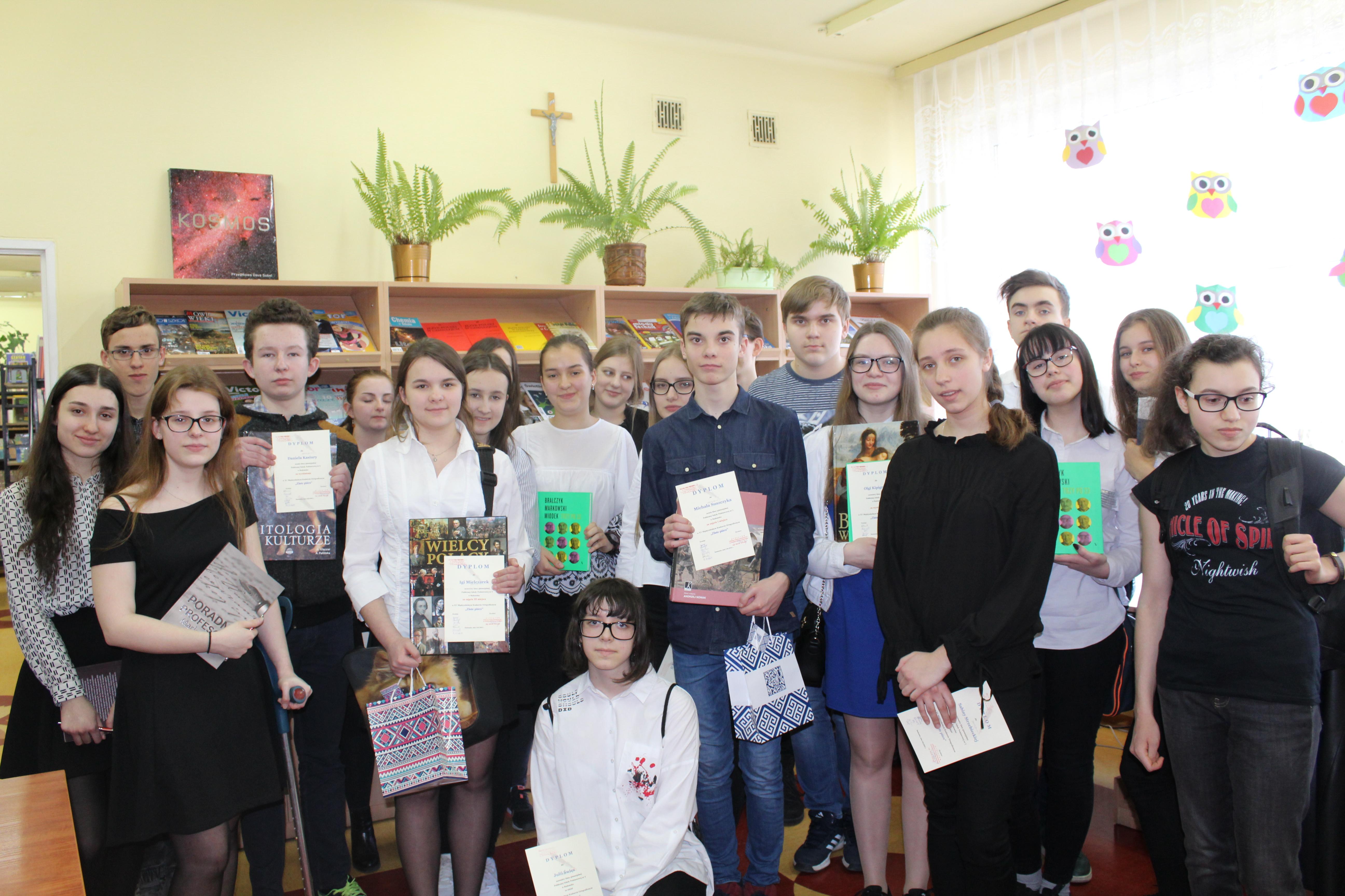 XV Międzyszkolny Konkurs Ortograficzny Złote pióro